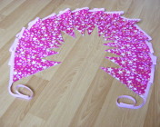 Bunting 3m Pink Stars Fabric