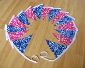 Bunting 3m Blue & Pink Stars Fabrics