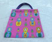 Mini Tote Bag Russian Doll Fabric