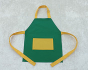 Younger Childs Apron Green/Yellow Polycotton Drill