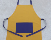 Apron Adult – Yellow/Purple Polycotton Drill