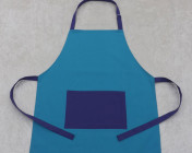 Apron Adult – Turquoise/Purple Polycotton Drill
