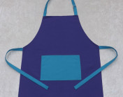 Apron Adult – Purple/Turquoise Polycotton Drill
