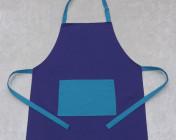 Apron Adult – Purple/Turquoise Polycotton Drill