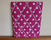 Memo Board Pink Spotty
