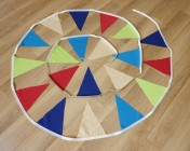 Bunting 4m Multi Coloured Fabrics