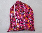 Drawstring Bag Pink Liquorice Allsorts