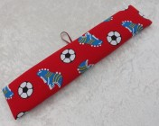Name Plate Kit 30cm Red Football Fabric