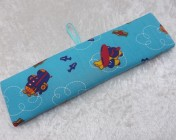 Name Plate Kit 24cm Blue Aeroplane Fabric