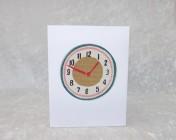 Handmade Fabric Card, Cath Kidston Clocks