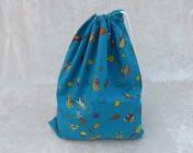 Drawstring Bag Turquoise Space