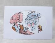 Handmade Fabric Card, The BFG & Sophie