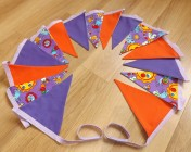 Bunting 3m Butterfly/Sun Fabric