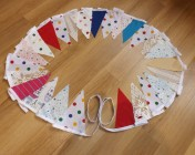 Bunting 5m Mixed Fabric & Lace