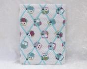 Memo Board Owls, Turquoise Elastic