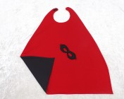 Superhero Cape & Mask Older Childs Red/Black