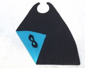 Superhero Cape & Mask Older Childs Turquoise/Black