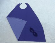 Superhero Cape & Mask Older Childs Purple/Mauve