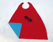 Superhero Cape & Mask Older Childs Red/Turquoise