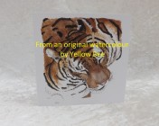 Greetings card Printed from an original watercolour TIGER