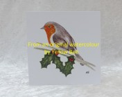 Greetings cards 5 Printed from an original watercolour ROBIN