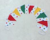 Bunting 3m Polka Dot, Red, Green, Yellow
