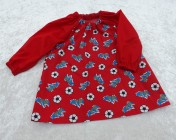 Art Smock 6m-3yrs Red Football, Red Sleeves