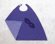 Superhero Cape & Mask Younger Childs Purple/Mauve