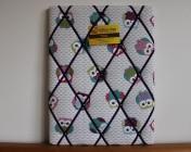 Memo Board Owls, Purple Elastic