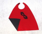 Superhero Cape & Mask Younger Childs Black/Red