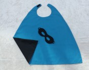 Superhero Cape & Mask Younger Childs Turquoise/Black
