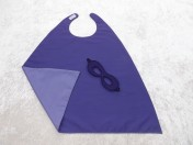 Superhero Cape & Mask Younger Childs Purple/Mauve