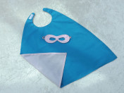 Superhero Cape & Mask Younger Childs Turquoise/Pink