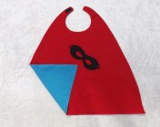 Superhero Cape & Mask Younger Childs Turquoise/Red