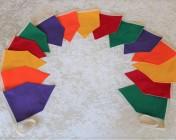 Bunting 3m Purple, Orange, Yellow, Red, Green