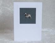 Handmade Fabric Card, Sophie Allport Pugs