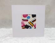 Handmade Fabric Card, Liquorice Allsorts