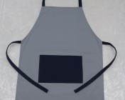 Apron Butcher – Grey/Navy Polycotton Drill