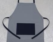 Apron Butcher – Grey/Navy Polycotton Drill