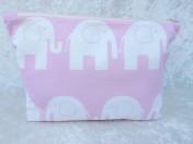 Zipped Bag – Pink Elephant Fabric