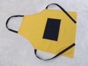 Apron Adult – Yellow/Navy Polycotton Drill