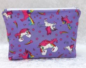 Zipped Bag – Purple Unicorns