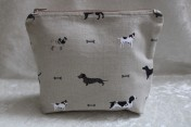 Zipped Bag – Sophie Allport Woof Dogs