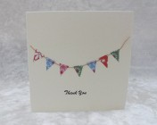 Handmade Paper Bunting, Thank you Card