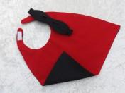 Superhero Cape & Mask Teddy Bear Black/Red
