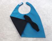 Superhero Cape & Mask Teddy Bear Black/Turquoise