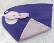 Superhero Cape & Mask Teddy Bear Pink/Purple