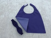 Superhero Cape & Mask Teddy Bear Purple/Mauve