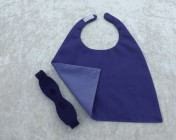 Superhero Cape & Mask Teddy Bear Purple/Mauve