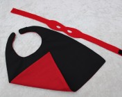 Superhero Cape & Mask Teddy Bear Red/Black
